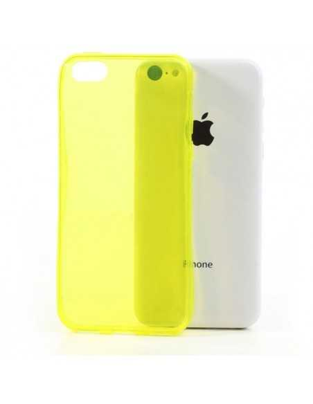 Coque iPhone 5C - silicone Jaune