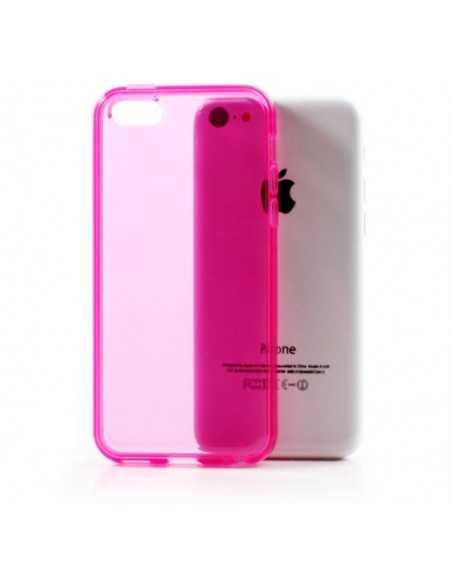 Coque iPhone 5C - silicone Fushia
