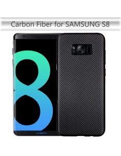 Coque Galaxy S8 rigide style carbon fibre