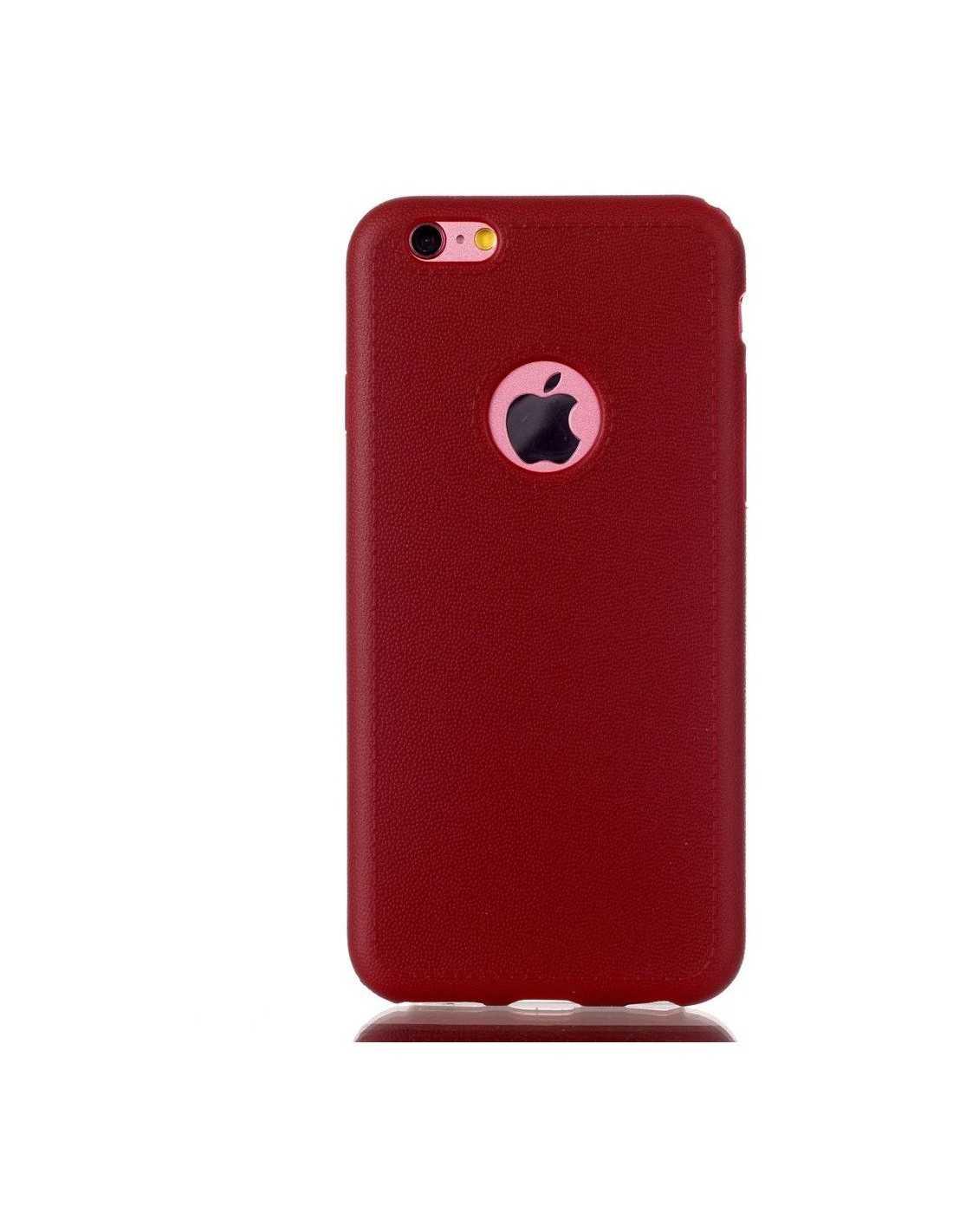 coque iphone 6s et iphone 6 souple seconde peau rouge