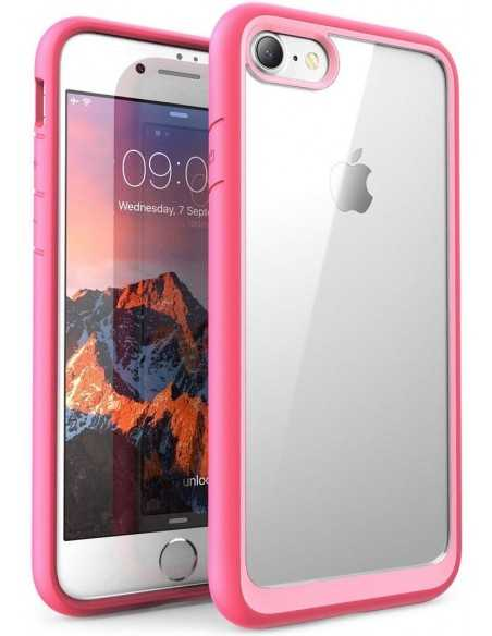 Coque iPhone 7 et 8 Silicone protection bord renforcé SUPCASE Rose