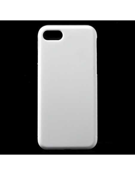 Coque iPhone 8 et iPhone rigide anti-dérapant Blanc