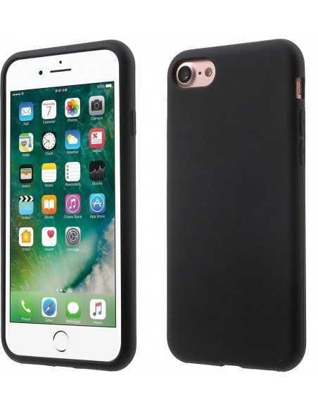 Coque iPhone 7 et iPhone 8 silicone souple matte Noir