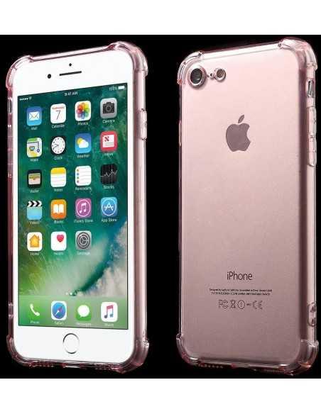 Coque iPhone 7 et iPhone 8 silicone drop-proof Fushia