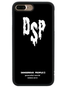 Coque iPhone 8 Plus et 7 Plus silicone white dsp Noir