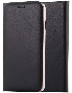 Etui iPhone 8 et iPhone 7 style cuir retro avec insert carte