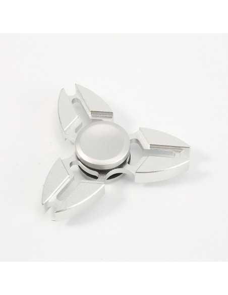 Hand spinner ninja alluminium Argent