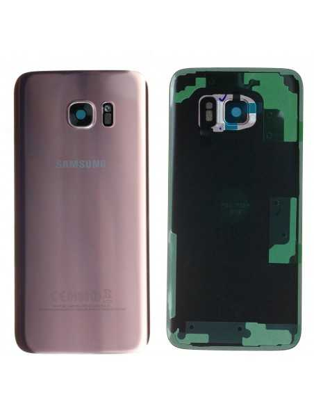 Vitre arrière Samsung Galaxy S7 Edge G935F Officiel Rose