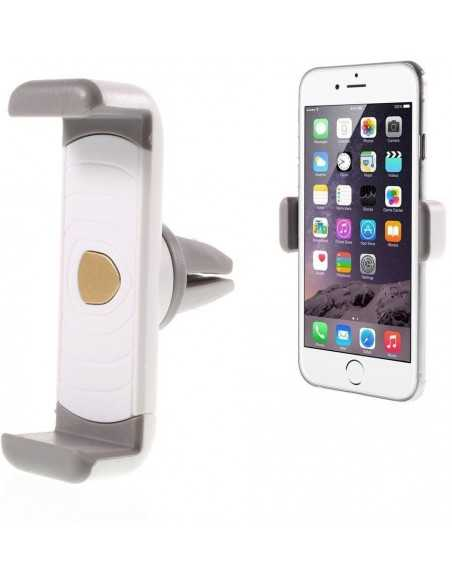 Support iPhone Samsung Sony ventilation voiture Blanc