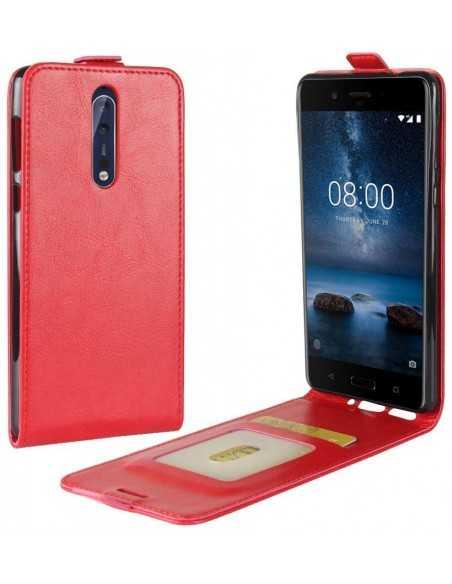 Etui Nokia 8 Vertical Simili cuir Rouge