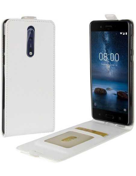 Etui Nokia 8 Vertical Simili cuir Blanc