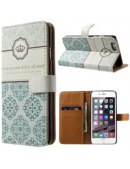 Etui iPhone 6s iPhone 6 portefeuille Crown