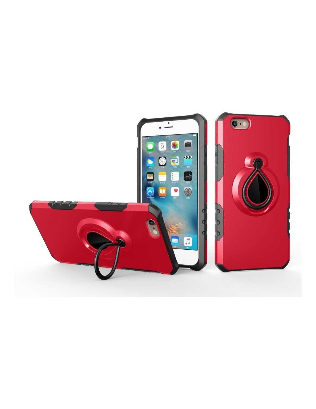 Coque iPhone 6 6s silicone et Metal avec anneau - All4iphone