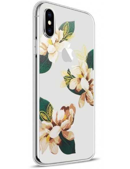 Coque iPhone X silicone fantaisie Cool Flo Or