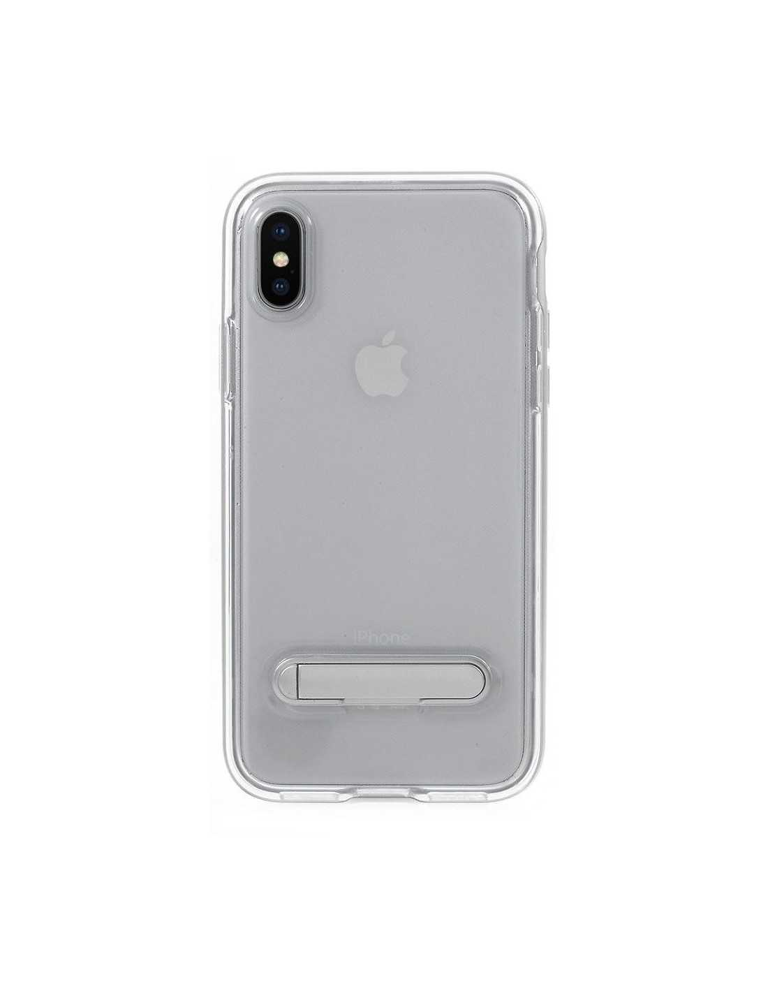 Coque iPhone X plastique avec contour Hybrid - All4iphone Argent