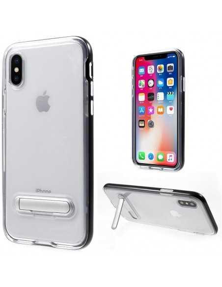 Coque iPhone X Plastique avec contour Hybrid Noir