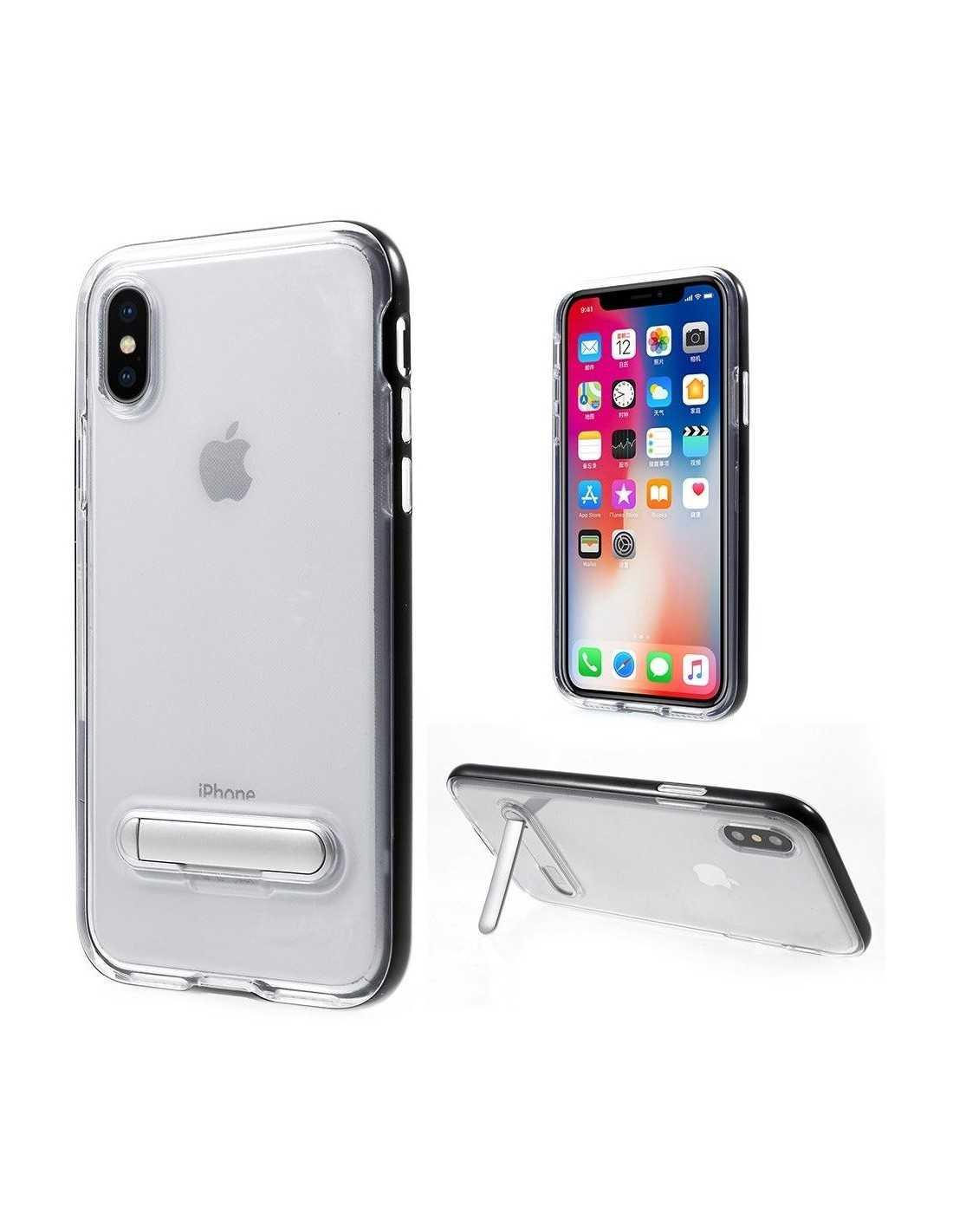 Coque iPhone X plastique avec contour Hybrid - All4iphone Noir