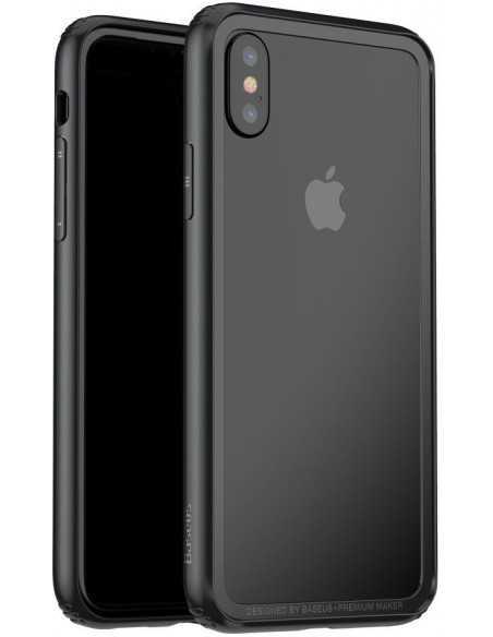 Coque iPhone X Style Bumper Design BASEUS Noir