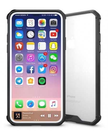 Coque iPhone X Transparent et Resistant Elegant Noir