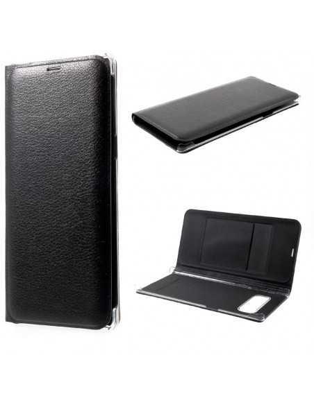 Etui Galaxy Note 8 simili cuir avec support carte Noir