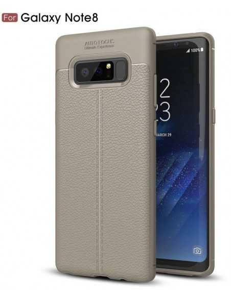 Coque Galaxy Note 8 protection Litchi Gris