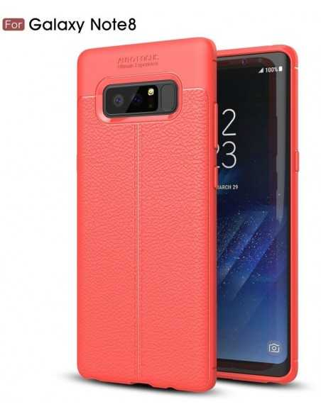 Coque Galaxy Note 8 protection Litchi Rouge