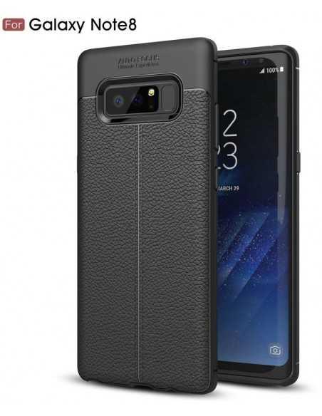 Coque Galaxy Note 8 protection Litchi Noir