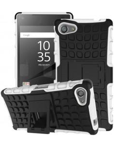 Coque Xperia Z5 Compact Silicone Hybrid avec support