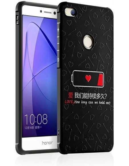 Coque Huawei P8 Lite 2017 et Honor 8 Lite antichoc batterie Faible Noir