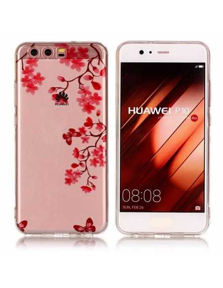 Coque Huawei P10 silicone Beautiful Flowers Transparent