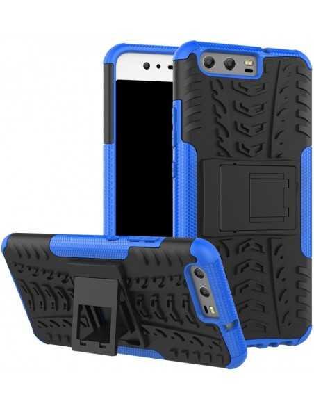 Coque Huawei P10 Antichoc Hybrid Bleu