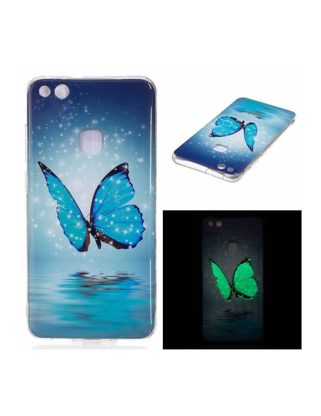 Coque Huawei P10 Lite silicone Phospho Papillion - All4iphone