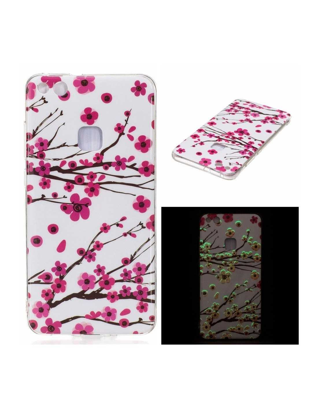 Coque Huawei P10 Lite silicone Phospho Cerisier - All4iphone