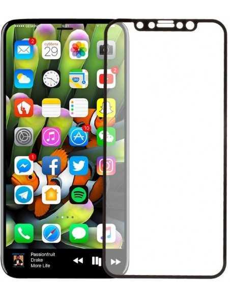 Film en verre trempé iPhone X Total noir Noir