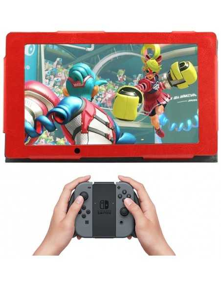 Etui Nintendo Switch Ecran Simili Cuir Rouge