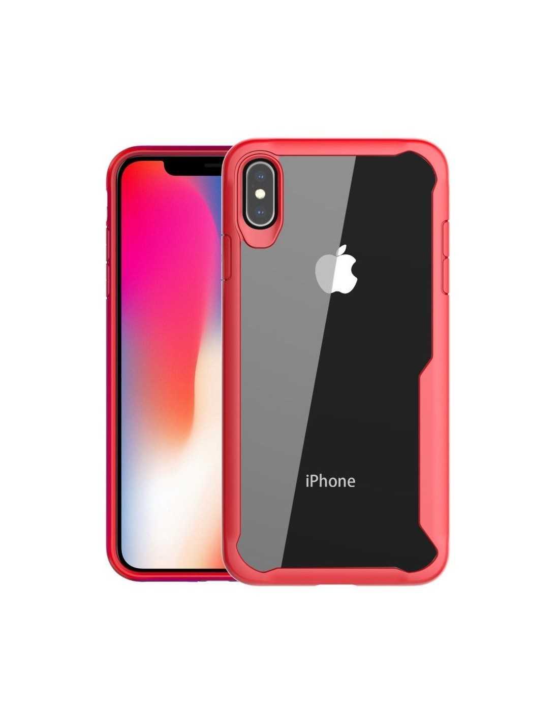 Coque iPhone XS Max Antichoc avec bords renforcés Rouge
