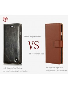 Etui iPhone XR aspect Cuir Caseme