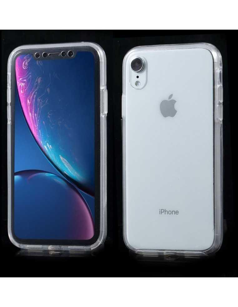 Coque intégrale silicone iPhone XR Transparent