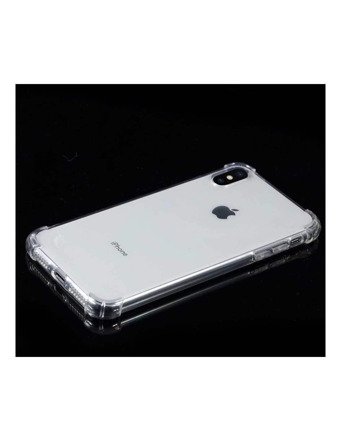 coque silicone transparente iphone xs max aux 4 coins renforces