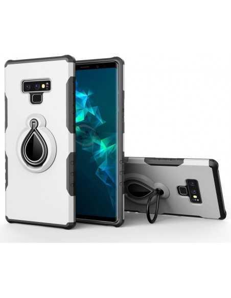 Coque antichoc Galaxy Note 9 avec support pivotant Blanc