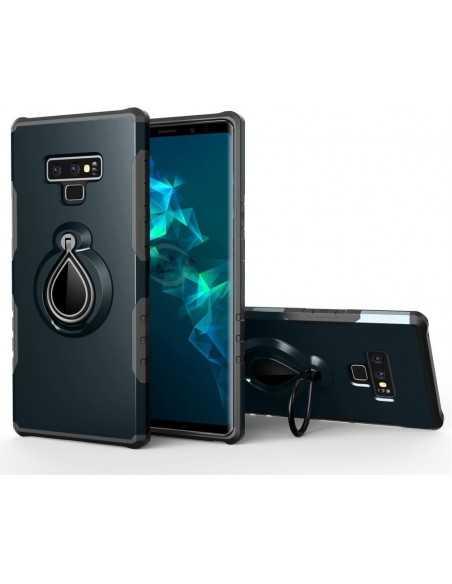 Coque antichoc Galaxy Note 9 avec support pivotant Bleu foncé