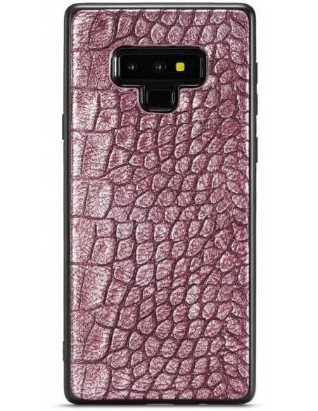 Coque Silicone Cuir Galaxy Note 9 Whatif Bordeau