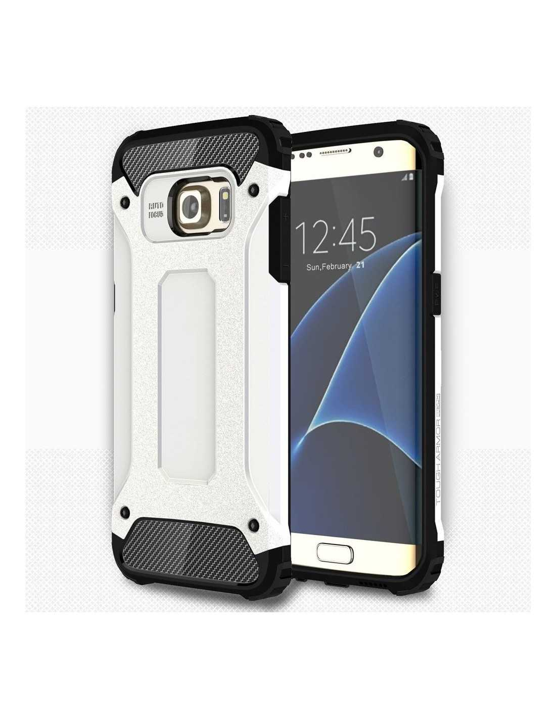 Coque antichoc Samsung Galaxy S7 edge hybride Cool armor Blanc