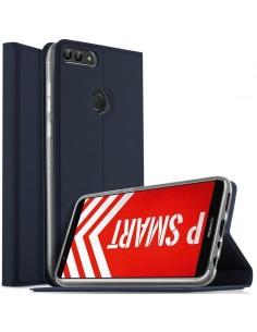 Etui portefeuille Huawei P Smart avec contour silicone
