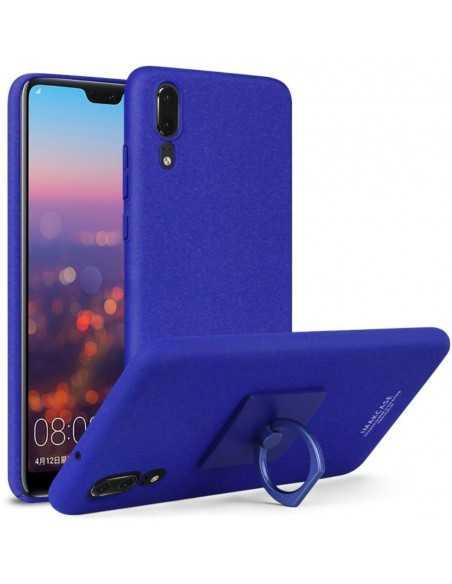 Coque Rigide Huawei P20 avec anneau Imak Bleu foncé