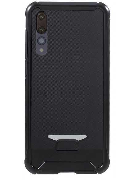 Coque silicone Huawei P20 Pro Hybride Relief Noir
