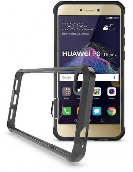 Coque antichoc transparente Huawei P8 Lite 2017 / Honor 8 Lite Noir