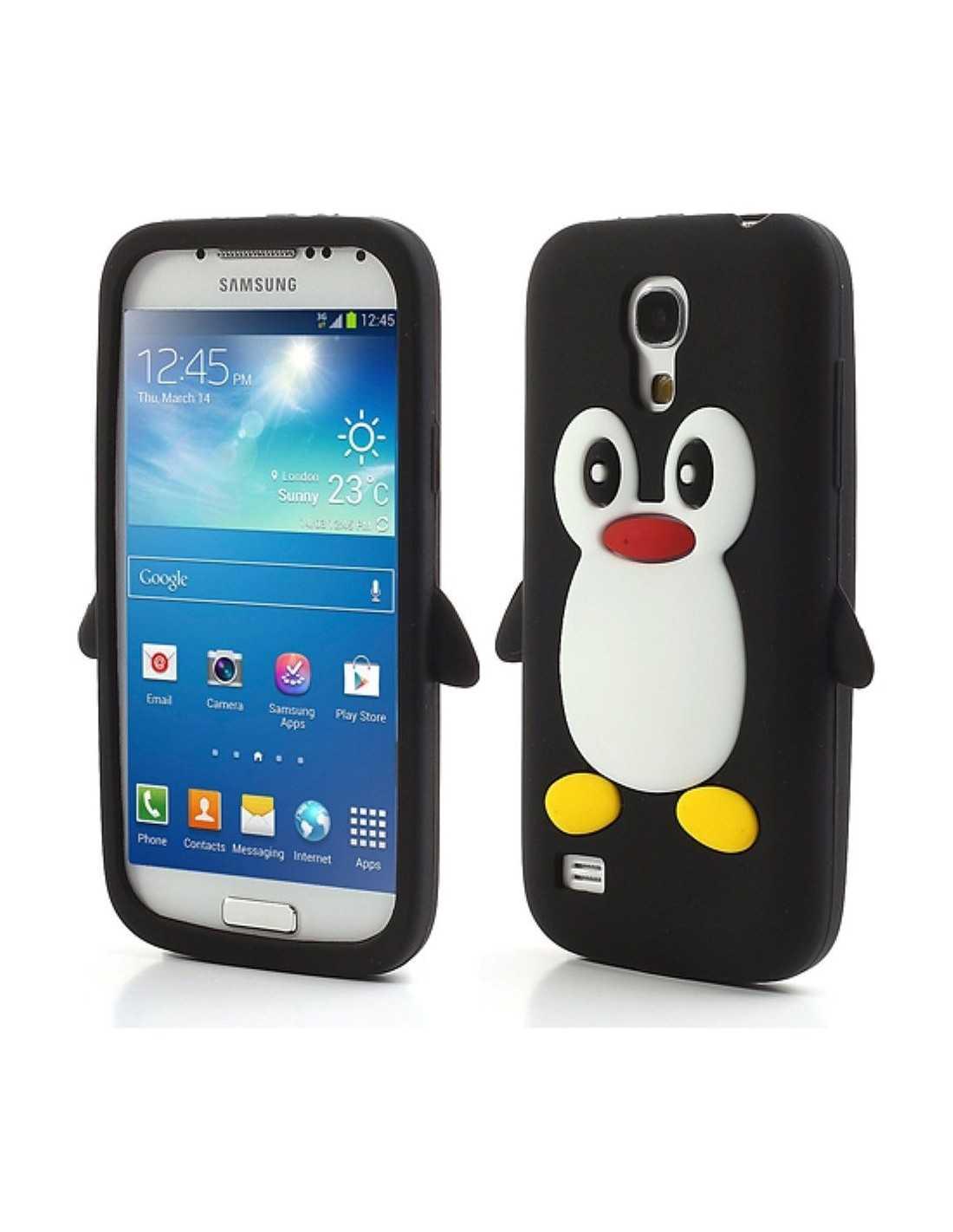Coque silicone Galaxy S4 Mini Pingouin -All4iphone