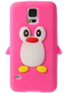 Coque silicone Galaxy S5 Pingouin