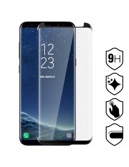 Film en verre trempé Samsung Galaxy S8 Plus Noir